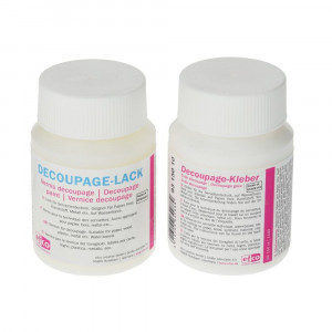 Decoupage-Set, 1 x Kleber, 1 x Lack, 2 x 100 ml, transparent